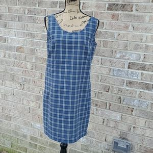 Patagonia shift plaid sleeveless dress